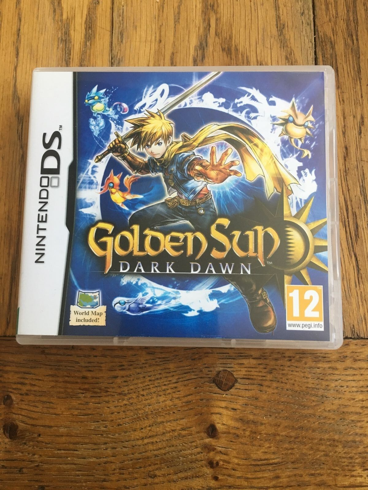 Golden Sun Dark Dawn Nintendo DS 3ds UK PAL Map Included