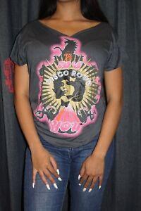 Room Neu camiseta Gris Kool Vintage 70er Disco Noir Tyra Damen Anna BYqS8