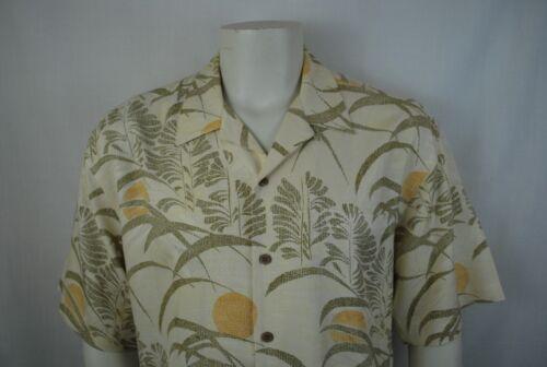 corta L floral manga Bahama ~ 100 beige multicolor seda Tommy talla dorado ~ Hombres qt41R