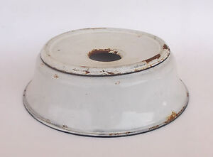 ANTIQUE ENAMELED SPITTOON