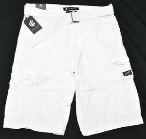 6a2621524e Rocawear Shorts Men's Size 32 Belted Cargo Shorts White Urban ...