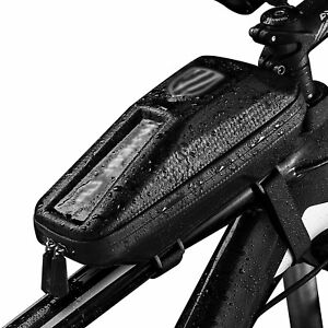 Front Bicycle Frame Waterproof Bag Cycling Tube Pouch Holder Saddle Pannier-r
