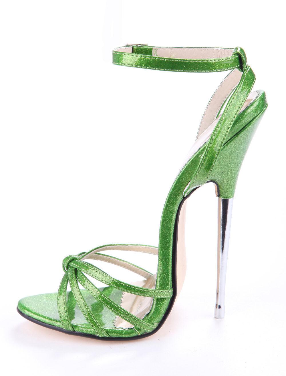 6.24'' 16cm Super High Heels Party Club Wouomo Peep Toe Sexy Stilettos scarpe