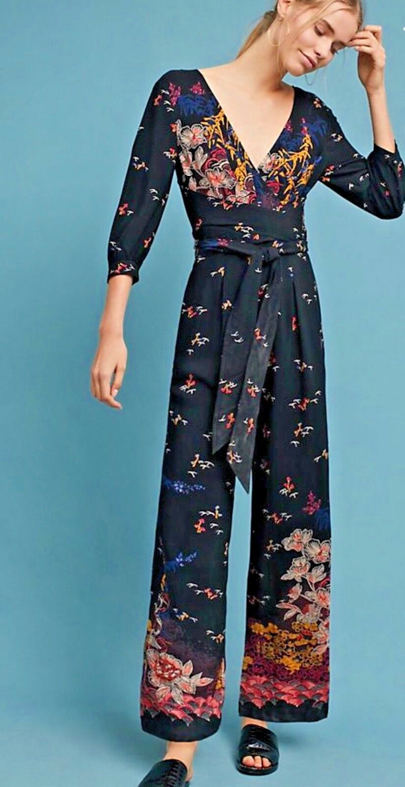 NWT Anthropologie  168 Romper Jumpsuit  size 4-Fast Shipping