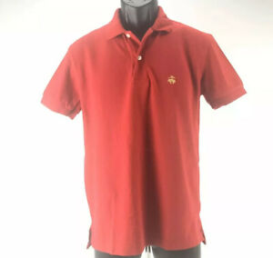 Brooks-Brothers-Golden-Fleece-Men-039-s-Short-Sleeve-Polo-Shirt-Red-Cotton-Size-S