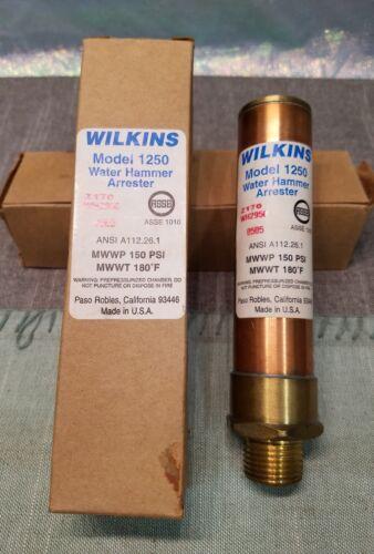 """Wilkins Modelo 1250-A Agua Martillo pararrayos 1//2/"""" n.p.t."""