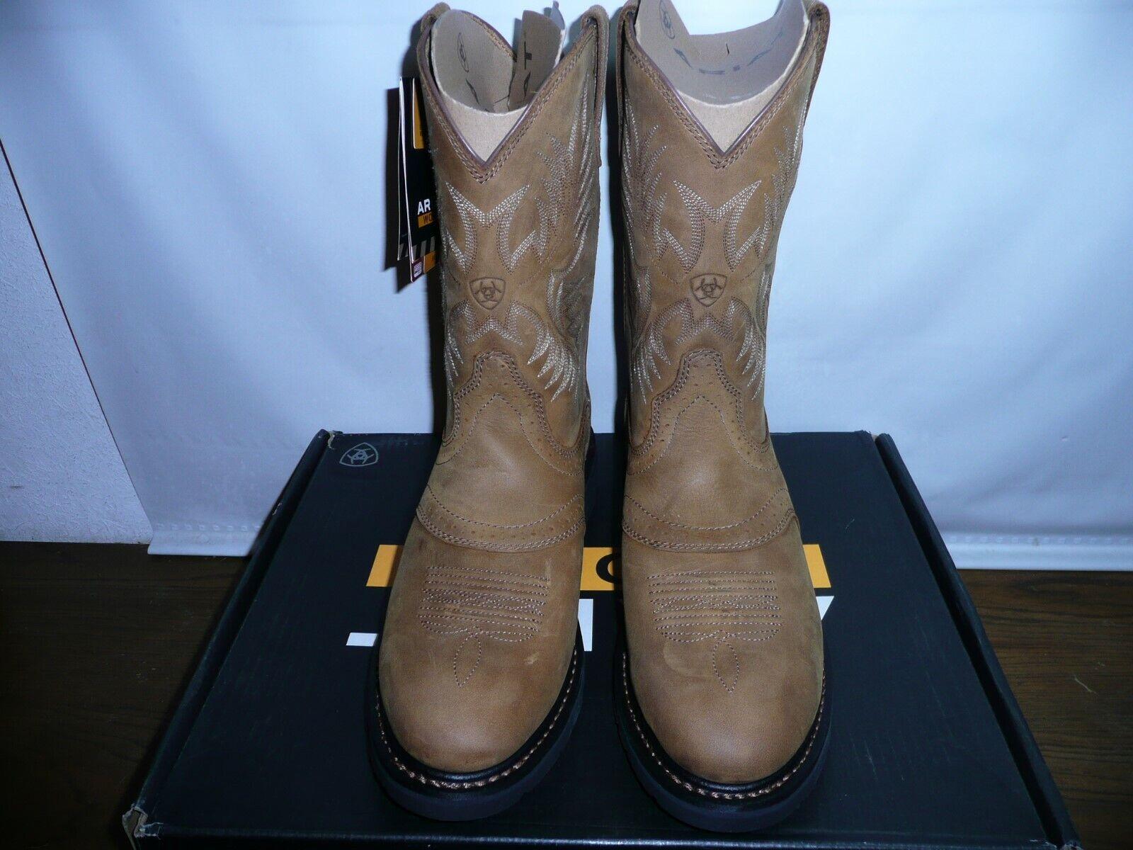 Ariat Para hombre Sierra Silla De Montar botas de trabajo, de corteza, nos 13 D