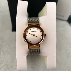 Bering-Women-039-s-Watch-Quartz-Gold-Silver-Stainless-Steel-Strap-Analogue-10122-001