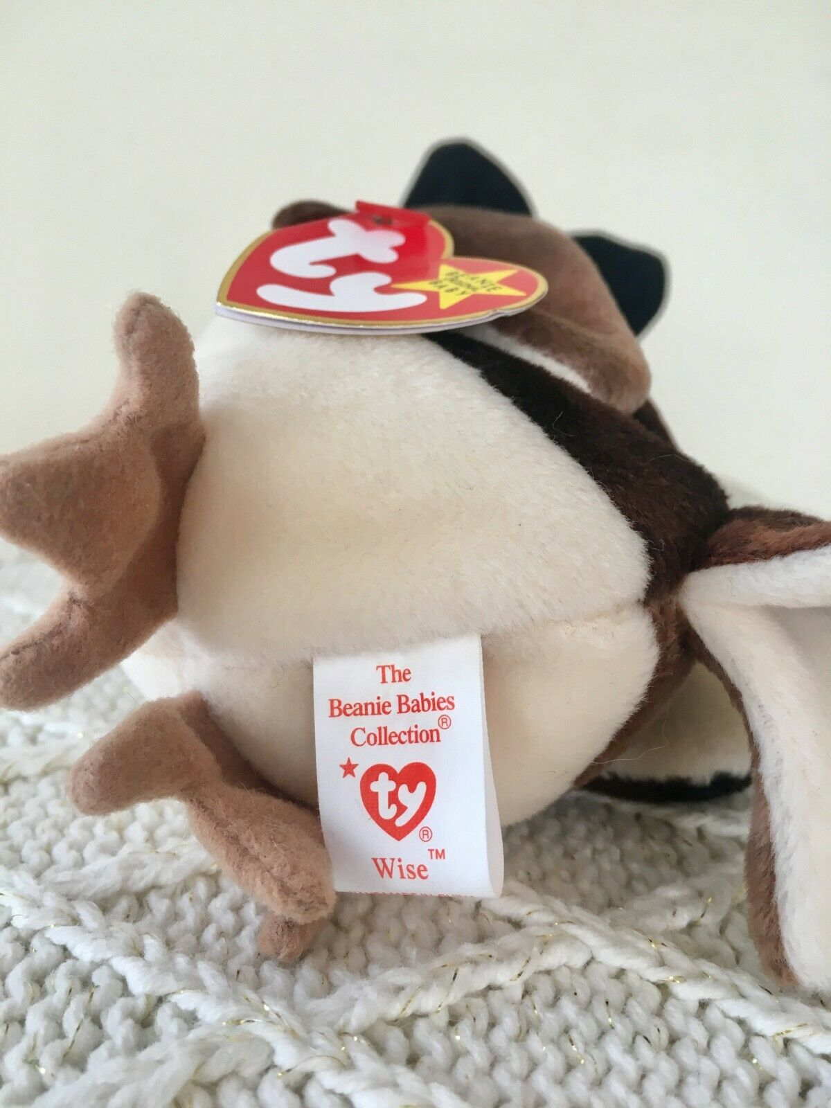 Ty Beanie Baby Wise the Owl, Class of 1998, RETIRED, RETIRED, RETIRED, UNIQUE (color dye),Original e5cadb