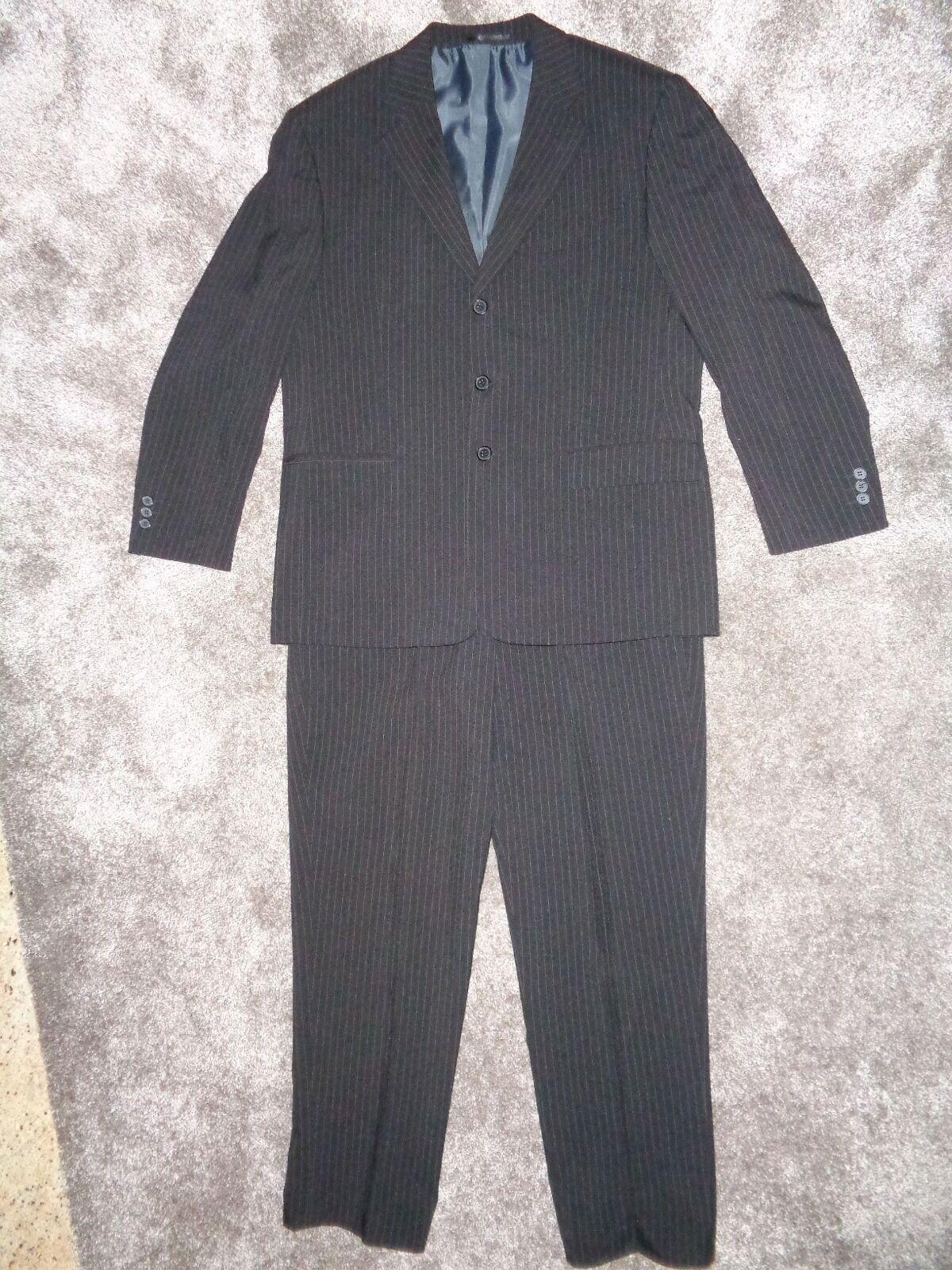 Canda C&A Herren Nadelstreifenanzug streifen Anzug 3 teilig Gr. 26 schwarz