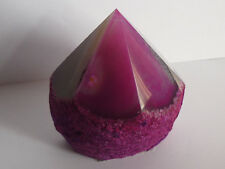 PUNTA GRANDE drusa nodulo AGATA ROSA cristallo minerale SALUTE CORPO detox bio