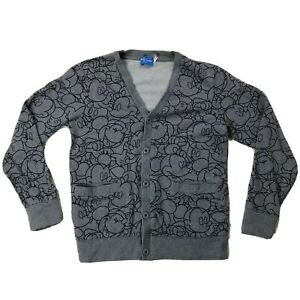Tokyo-Disney-Mickey-Mouse-Cardigan-Sz-Small-Long-Sleeve-Button-Front-Sweater