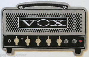 Vox-Amplifier-Woven-Patch-Iron-On-Amp-Bands-Instruments-Rock-and-Roll