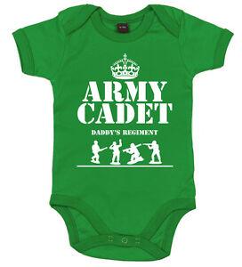 GRACIOSO-Body-de-bebe-034-Ejercito-CADET-in-de-Daddy-REGIMENT-034-Body-Dad-Soldado