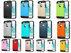 IPhone-7-Slim-Hybrid-Hard-Armour-Tough-Shockproof-Cover-Case-New-14-Colors