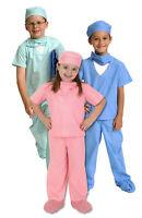Medical Scrubs Child Costume Boy Girl Er Doctor Dr. Surgeon Green Pink Blue