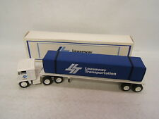 Winross Leaseway Transportation White 7000 Tractor 1985 Flatbed w/ Load VGC