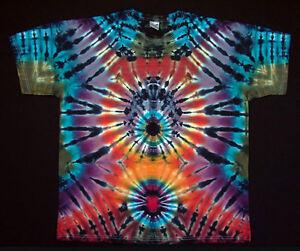 shirt batik T manica taglie tie flower hippie power dye a corta tinta nuovo 5xl mano goa d4Hxxq