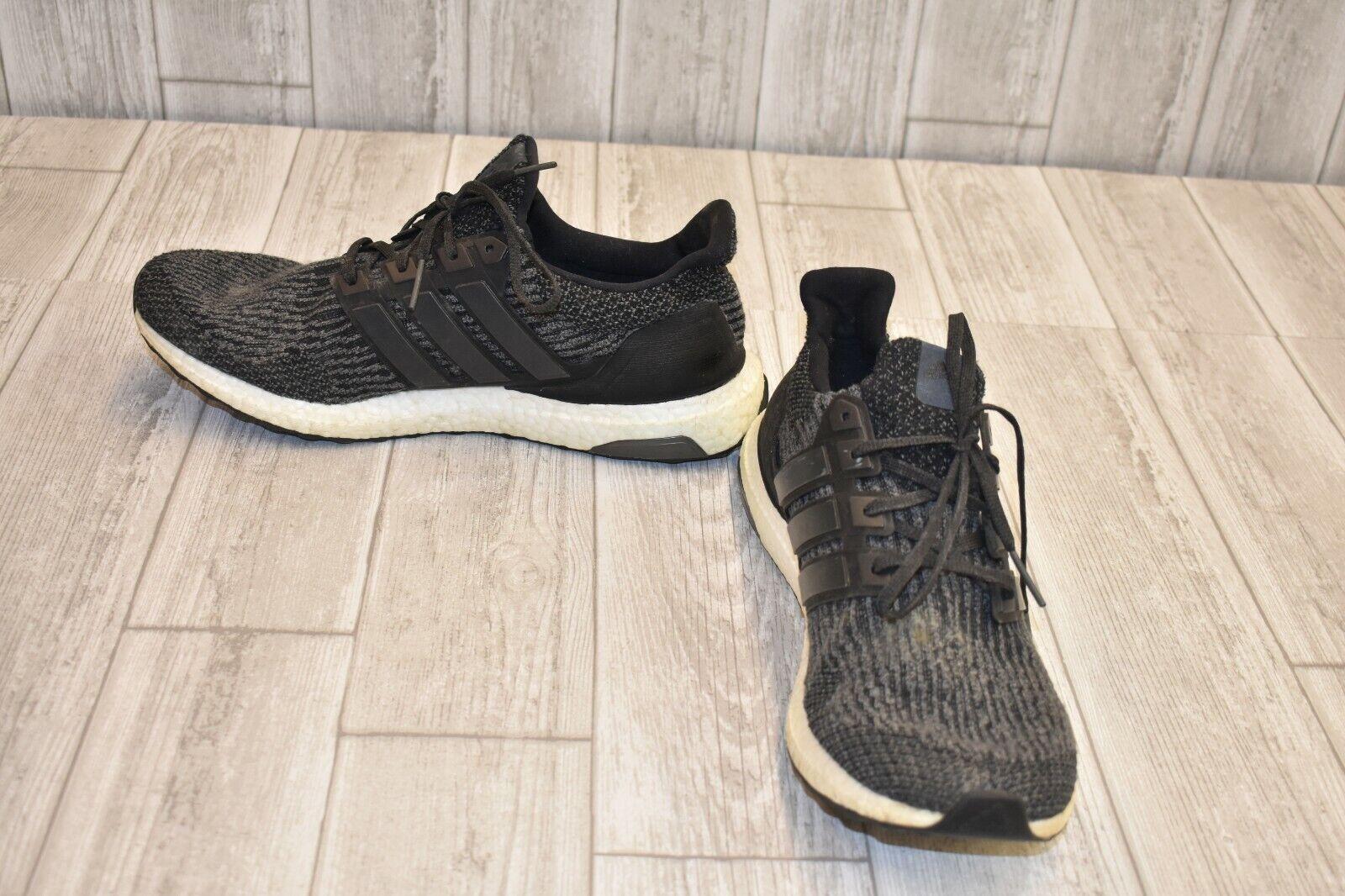 adidas Men's Ultraboost Running Shoes Sz 11 Black White Primeknit S80731
