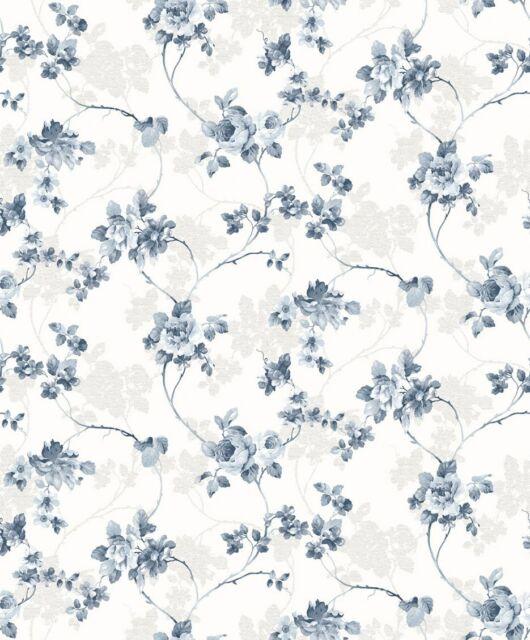 D/'ESSEN papier peint Primavera 2018 2529 Fleurs Feuilles Fleurs Landhaustil Maison de campagne