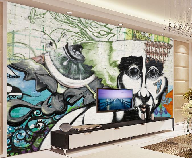 3D Zauberer Graffiti 5 Tapete Tapeten Mauer Foto Familie Tapete Wandgemälde DE