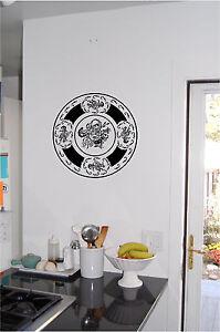 Image Is Loading Decorative Plate Wall Sticker Art Kitchen Decor