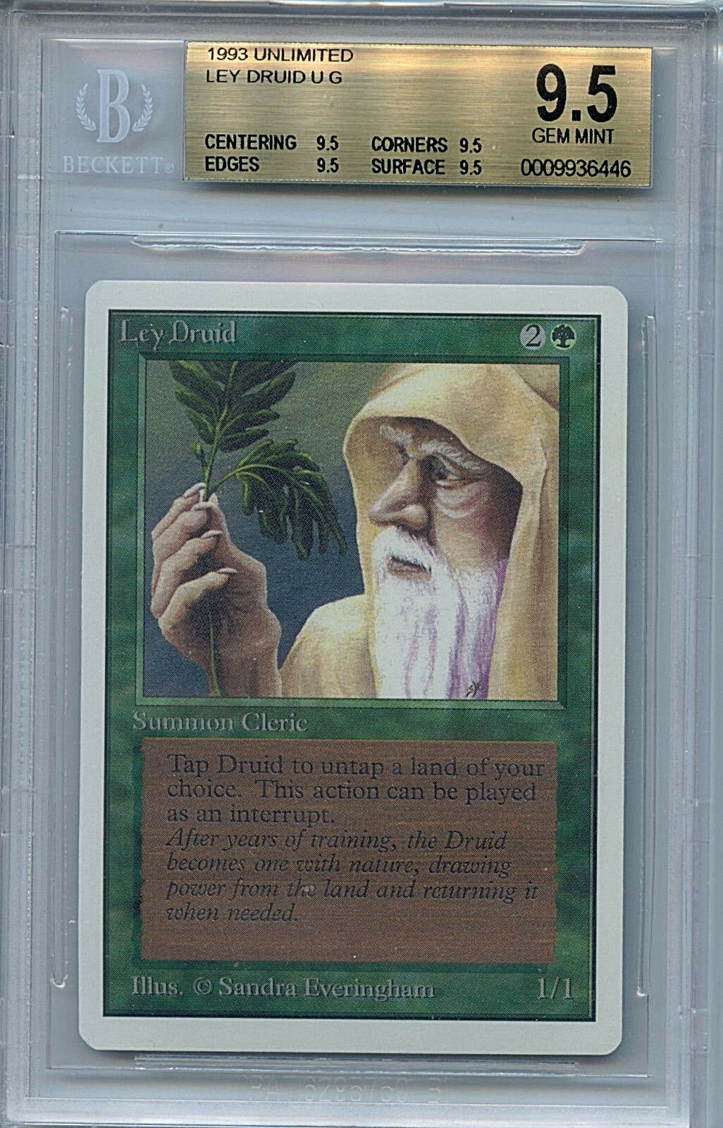 Mtg unbegrenzte ley druide bgs 9,5 gem - karte magic the gathering wotc 6446