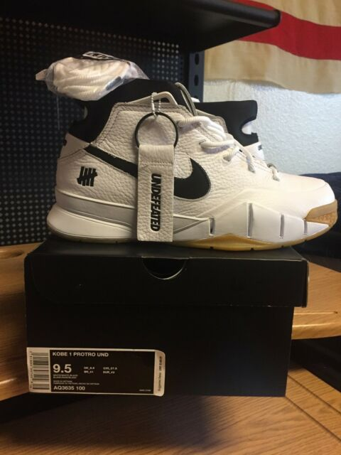 Nike Zoom Kobe 1 Protro Undefeated White Gum Size 9.5 Aq3635-100 for ... 5b9ded3a2