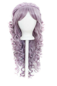 28-034-Curly-Layered-Cut-with-Teased-Bump-and-Short-Bangs-Lilac-Purple-Wig-NEW
