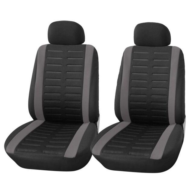 Universal Autositzbezüge für BMW Serie 3 Schwarz Schonbezüge Vordersitze 1+1