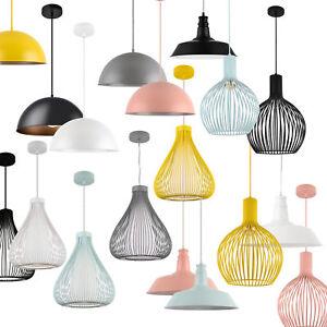h ngeleuchte metall deckenleuchte leuchte pendelleuchte design lampe ebay. Black Bedroom Furniture Sets. Home Design Ideas