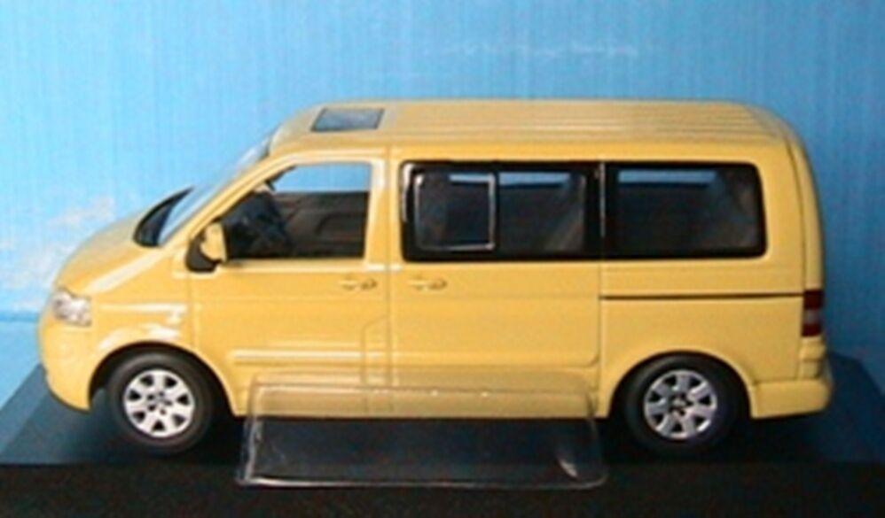 VW VOLKSWAGEN MULTIVAN T5 2003 LIGHT jaune MINICHAMPS 1 43 JAUNE KOMBI COMBI