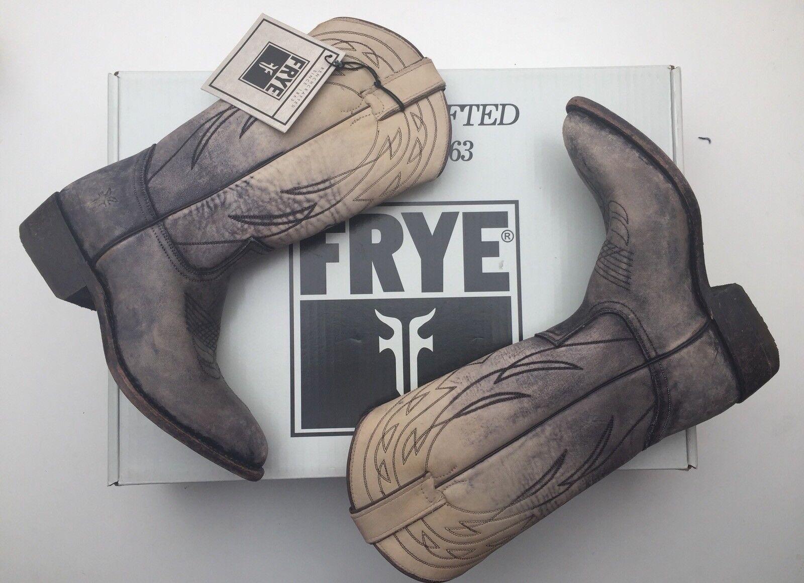 BNIB Authentic FRYE BILLY PULL ON Cowboy Stiefel Stone 77713 5 Guaranteed Original