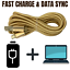miniature 6 - 3X 10Ft Micro USB Fast Charger Cable Heavy Duty Charging Cord For Android Phone