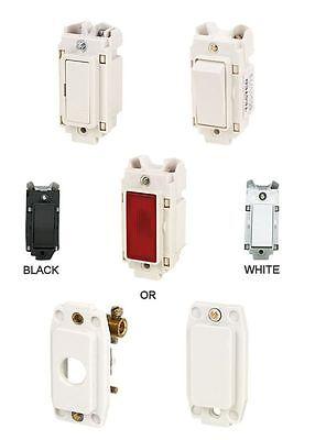 20amp intermédiaire Crabtree rockergrid Fit Grille Commutateurs 10 amp neon fuse.