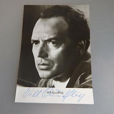 Intellektuell Autogramm Will Quadflieg 1974 Autogramme & Autographen Sammeln & Seltenes 54578