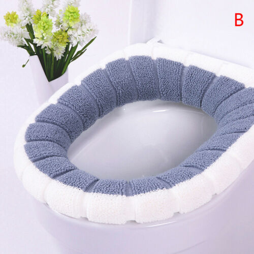 Universal Warm Soft Washable Toilet Seat Cover Mat Closestool Toilet Lid Co TPOQ