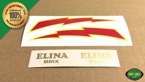 Black or Blue Seat ELINA BMX /& LIGHTNING BOLT BMX Seat Decal Sticker Set Combo