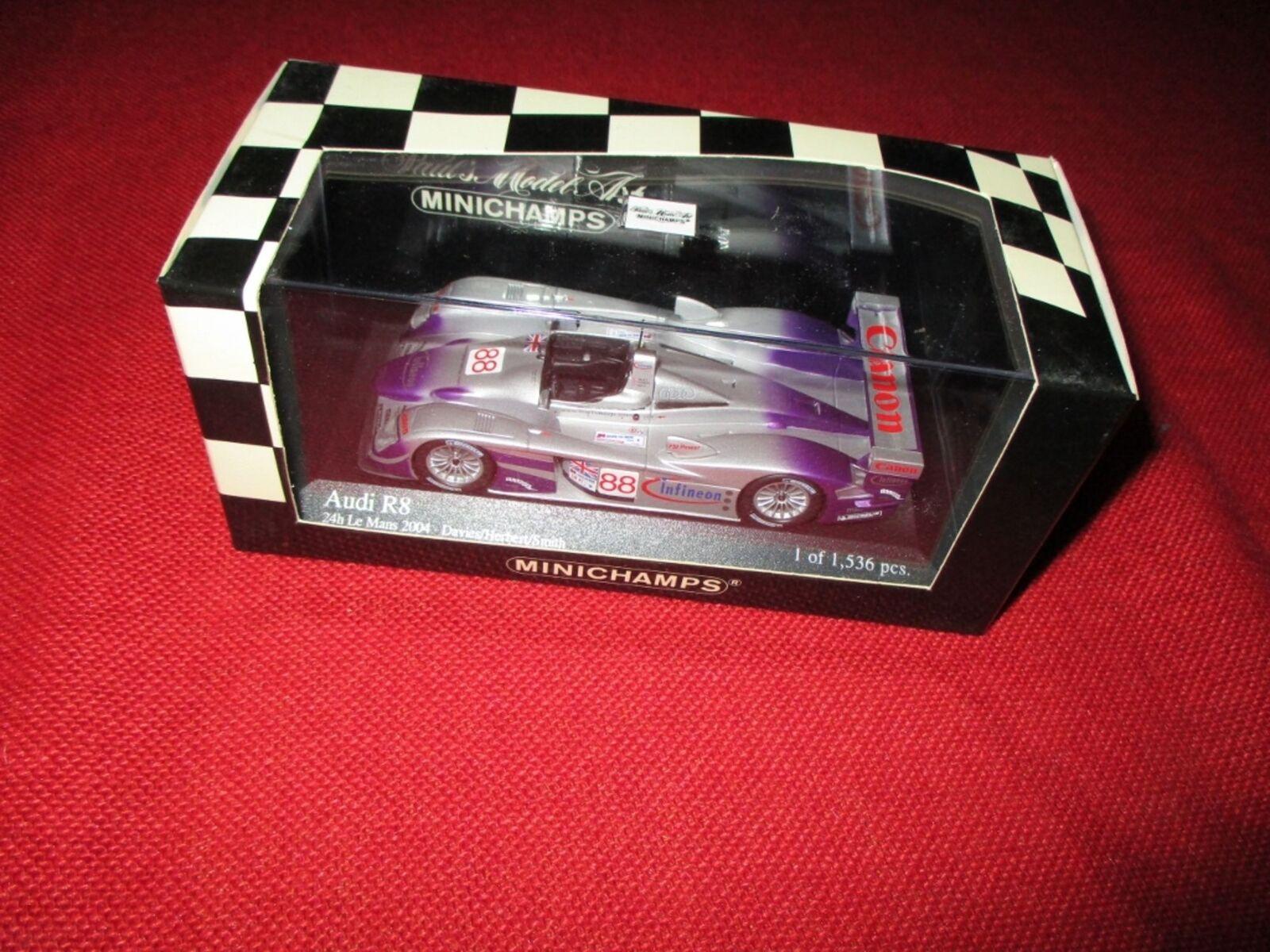 MINICHAMPS® 400 041388 1 43 Audi R8 24h Le Mans 2004 Davies Herbert Smith  | Angenehmes Gefühl