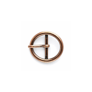 Vogue Star 25mm Copper Oval Centre Bar Buckle Accessories