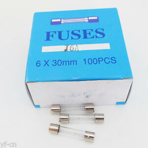 100 Pcs 6x30 Slow Blow Glass Fuse 6mm x 30mm 250V Slow Blow T0.25A-T15A