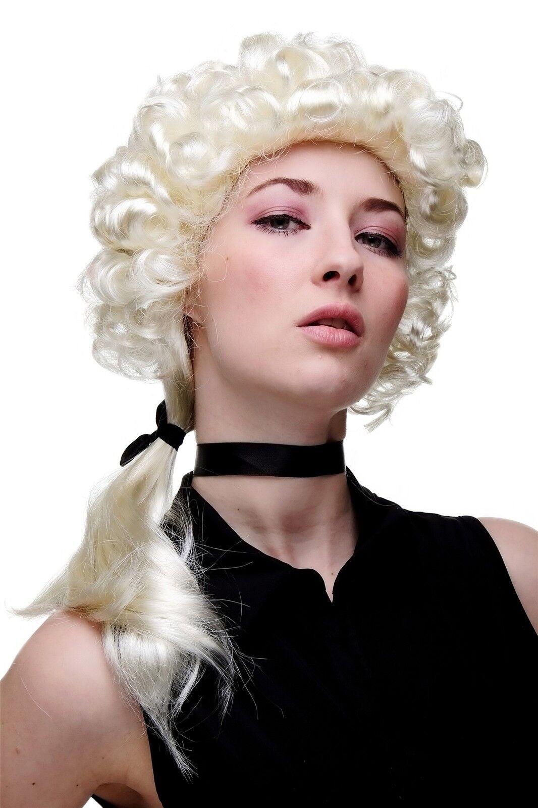 Wig Men's Women's Light Blond Plait Baroque Renaissance Aristocrat Noblewoman