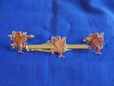ROYAL WELSH FUSILIERS RAMPANT DRAGON CUFF LINKS AND TIE GRIP / CLIP SET