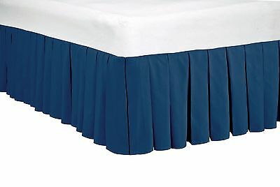 BNF HOME 14 Inches Drop Microfiber Dust Ruffle Bed Skirt, Queen, King