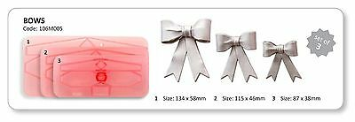 Jem Small Bows Sugarcraft Cutters set cake decorating cupcakes NEXT DAY DESPATCH