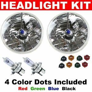 Details about VW Tri Bar Light Headlights Conversion Kit bug ghia bus split  oval samba thing