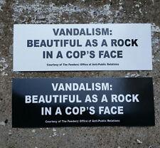 2 vandalism beautiful as a rock in a COP's face-STICKER Nirvana Feederz Cobain