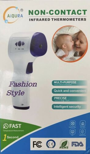 AiQURA Infrared Non-Contact Forehead Thermometer Digital Model AD801