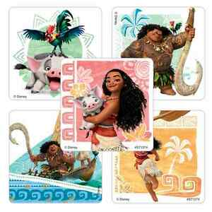 """14 Moana Stickers, Assorted, 2.5""""x2.5"""" each, Party Favors"""