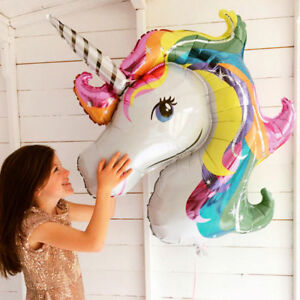 2x-Huge-Unicorn-Foil-Balloons-Animal-Globo-Inflatable-Classic-Toy-Birthday-Party